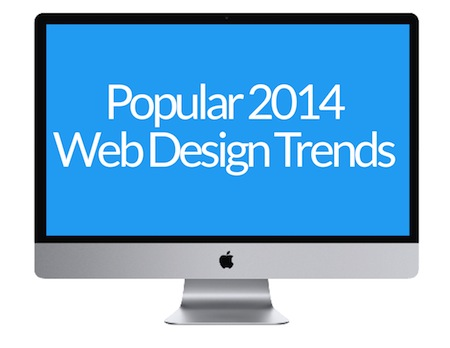 popular 2014 website design trends