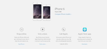 Apple Website Circles Call to Action
